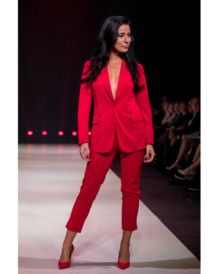 FIERCE RED SUIT TROUSERS