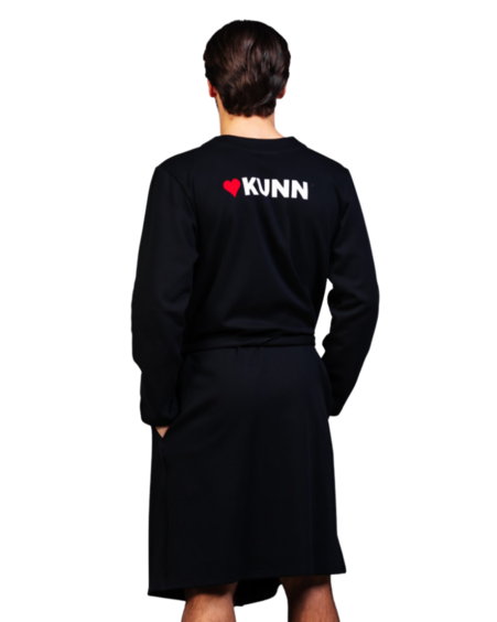 KUNN MENS ROBE BLACK