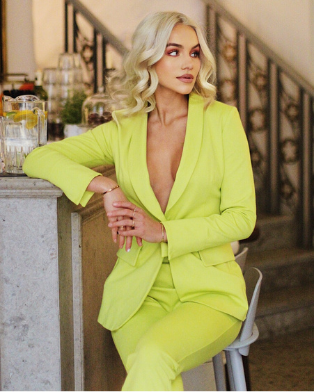 NEON GREEN POWER ELEGANT JACKET