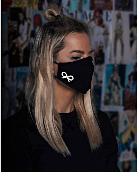 FACE MASK REFLECTOR BOW BLACK-1 PIECE