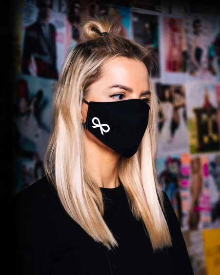 FACE MASK BOW BLACK-1 PIECE