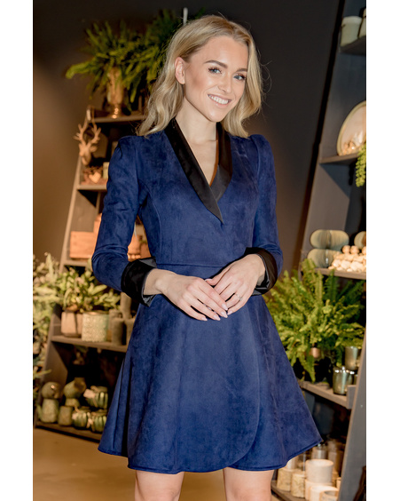 MOON DRESS BLUE SUEDE