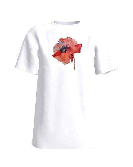 T-Shirt H UNISEX white_MOON