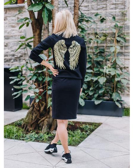GOLD ANGEL SWEATSHIRT BLACK