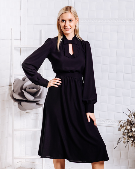 DOLLABLE MIDI DRESS BLACK