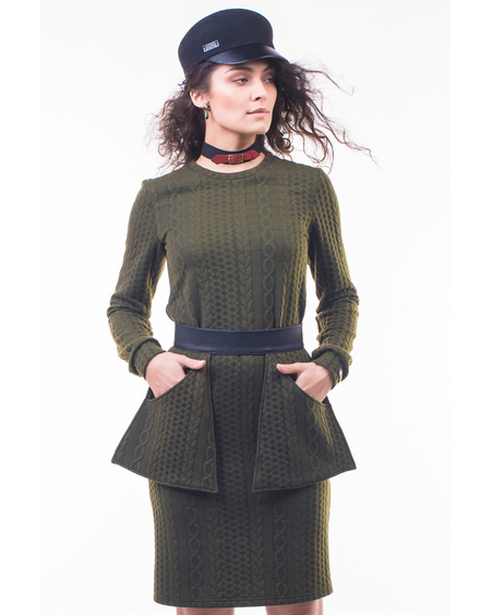 ARMY JUMPER DRESS + POCKET BELT
