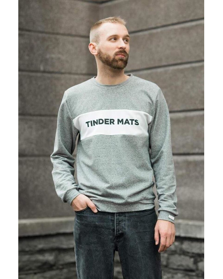 TINDER MATS GREY SWEATER