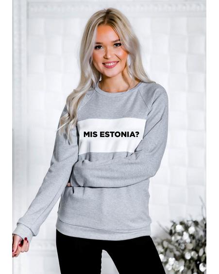 MIS ESTONIA? SWEATSHIRT VELVET GREY