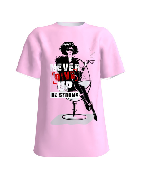 T-Shirt H UNISEX Light Pink BE STRONG