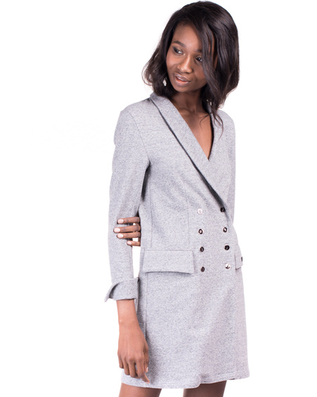 GREY BLAZER DRESS
