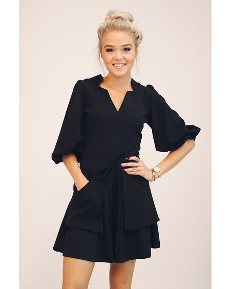 BLACK POCKET PLAYSUIT