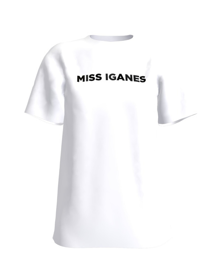 MISS IGANES PRINT T-SHIRT WHITE
