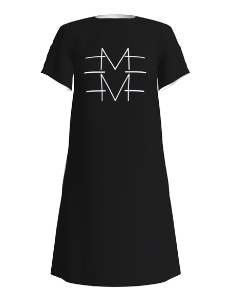 EMME PRINT DRESS BLACK
