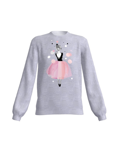 PINK GIRL SWEATER LIGHT GREY