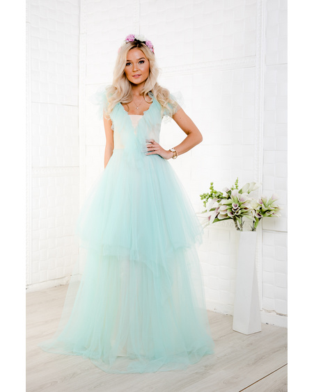 MINT TULLE MAXI DRESS
