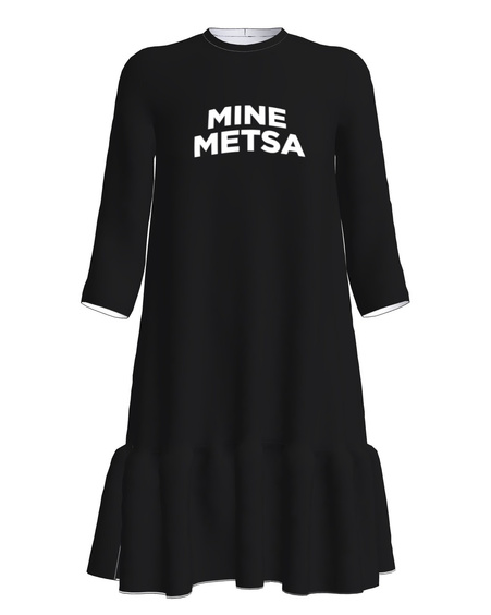 MINE METSA FRILL DRESS BLACK