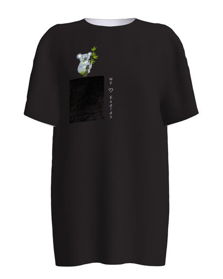 WE LOVE KOALAS UNISEX T-SHIRT BLACK