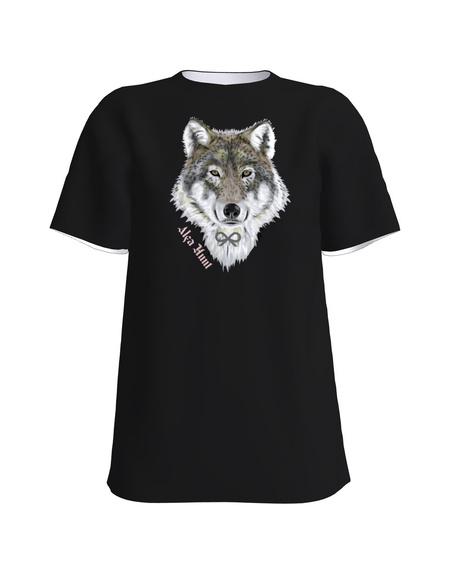 ALPHA WOLF UNISEX T-SHIRT BLACK