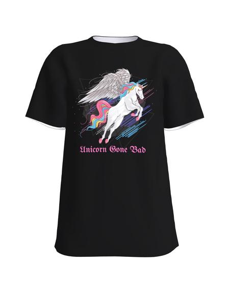 GONE BAD UNICORN UNISEX T-SHIRT BLACK