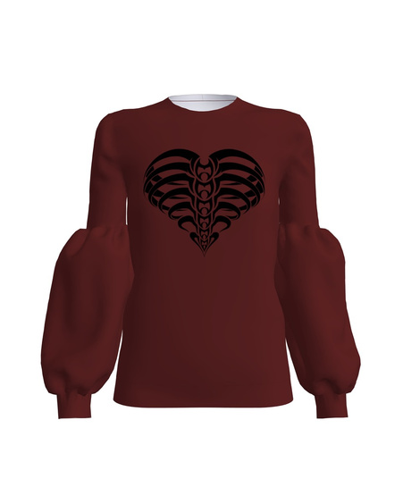 VELVET HEART ALICE SWEATSHIRT BORDEAUX