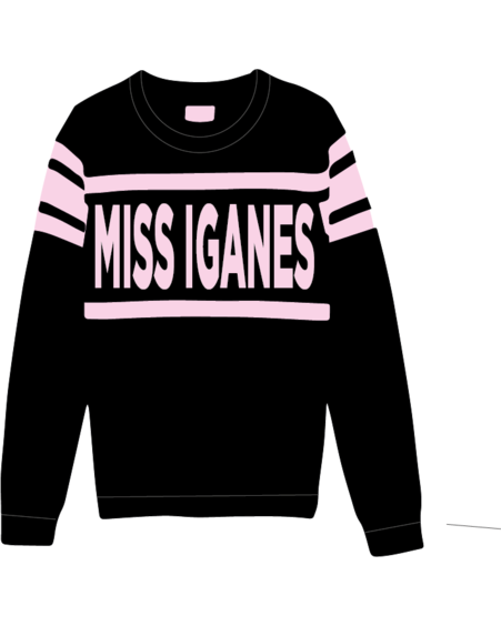 MISS IGANES KNIT SWEATER  BLACK