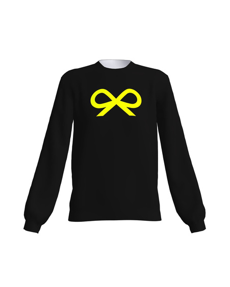 BLACK YELLOW NEON BOW SWEATER