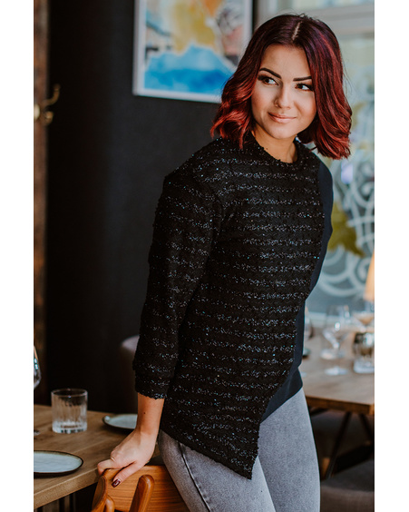 BLACK COOL CUT SWEATER