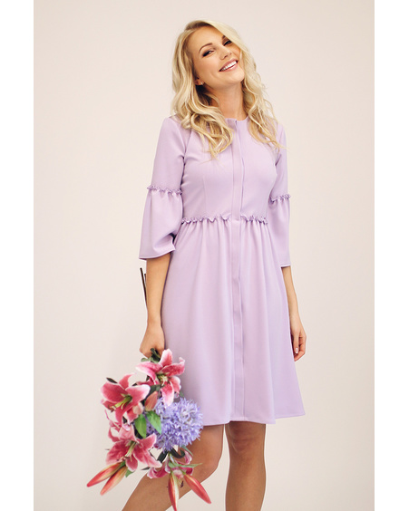 PASTEL LILAC FLARE DRESS