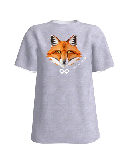 ANIMAL NOT ENEMY FOX UNISEX T-SHIRT LIGHT GREY