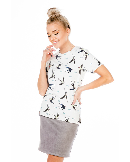 SWALLOW T-SHIRT IVORY