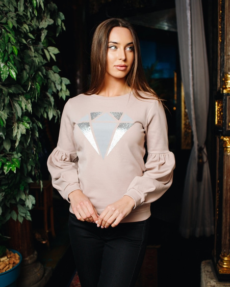 DIAMOND ALICE SWEATSHIRT NUDE
