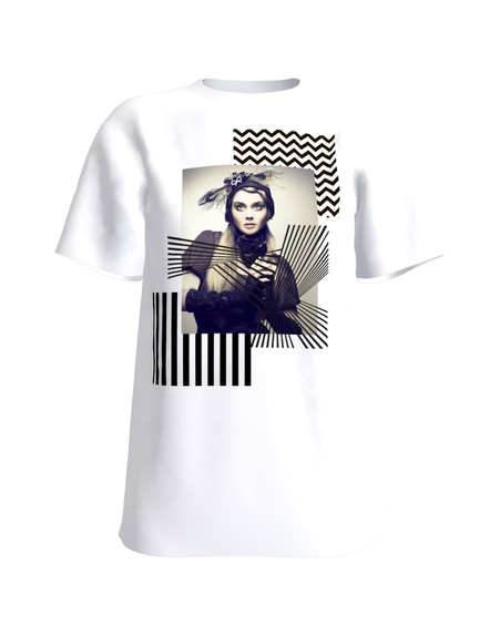 GEOMETRIC DOLL T-SHIRT WHITE