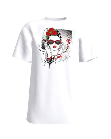 T-Shirt FLOWER DOLL UNISEX white