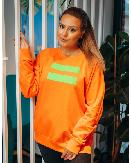 UNISEX NEON ORANGE GREEN VÕRDSUS SWEATER