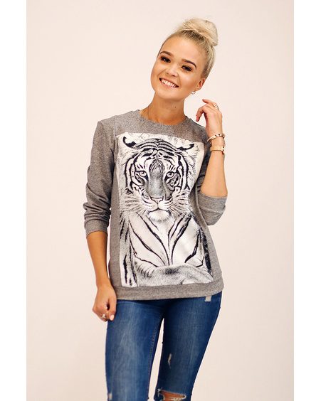 SLEEPING TIGER QUARTER SWEATER