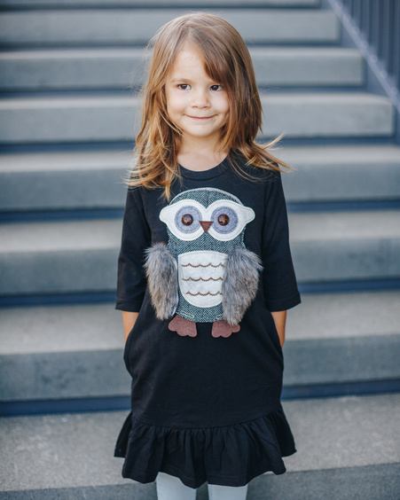 OWL KIDS DRESS BLACK