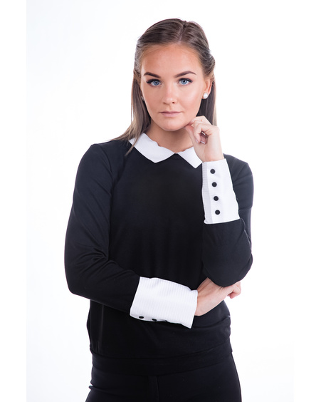 CLASSY COLLAR POPPERED SHIRT