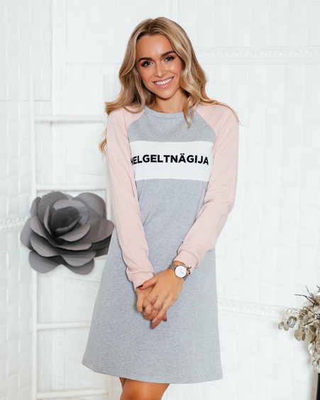 LIGHT GREY HELGELTNÄGIJA OVERSIZE DRESS