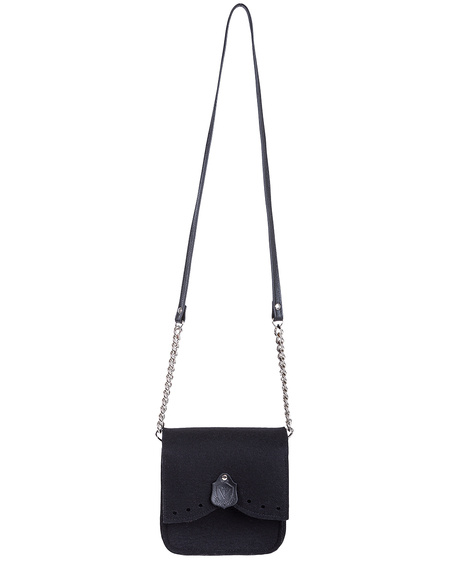 BLACK FELT CROSSBODY BY VILT