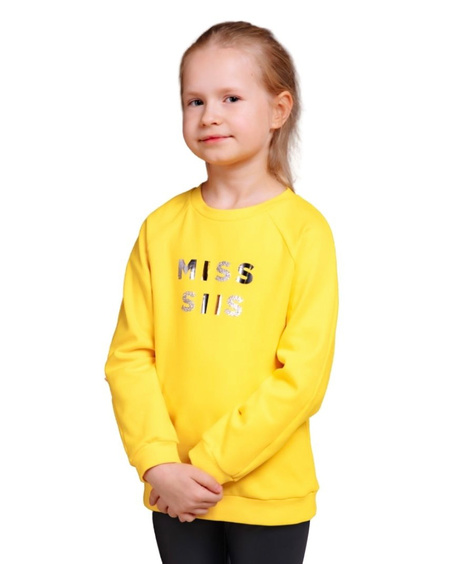 MISS SIIS KIDS SWEATSHIRT YELLOW