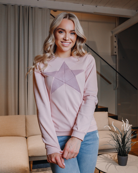 STAR SWEATSHIRT PINK
