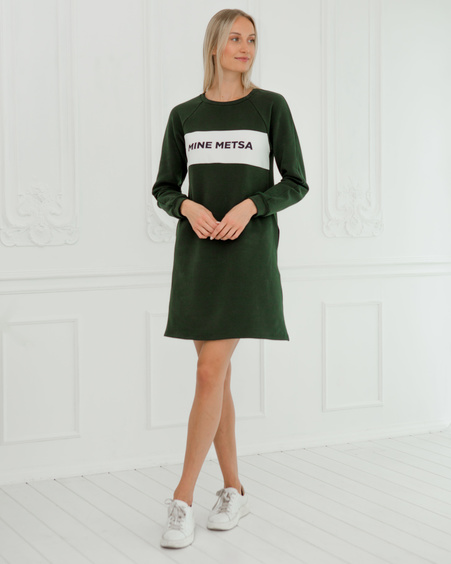 MINE METSA DARK GREEN SWEATER DRESS