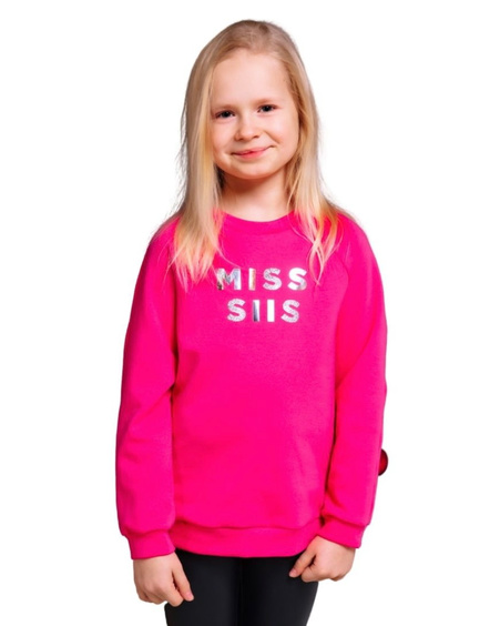 MISS SIIS KIDS SWEATSHIRT FUCHSIA