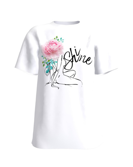 SHINE WHITE T-SHIRT