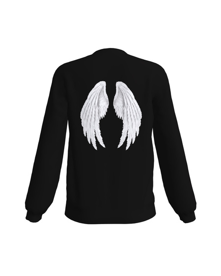 NOT YOUR FUCKING ANGEL PRINT SWEATSHIRT BLACK