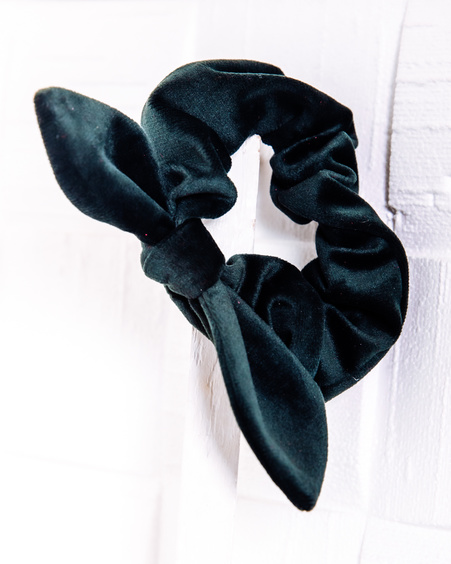 TD SCRUNCHIE: DARK GREEN