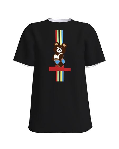 OLYMPIC BEAR PRINT T-SHIRT BLACK