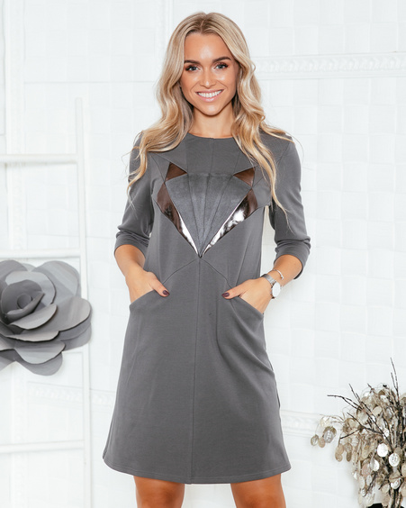 SILVER FOX DARK GREY DRESS