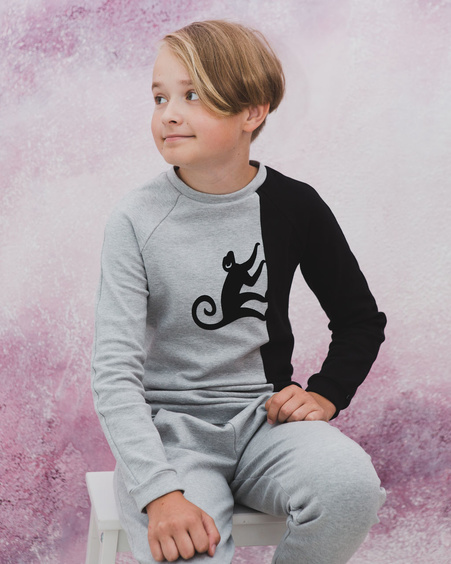 MONKEY TWAIN GREY KIDS SWEATSHIRT
