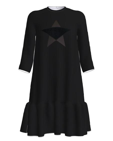 STAR FRILL DRESS BLACK